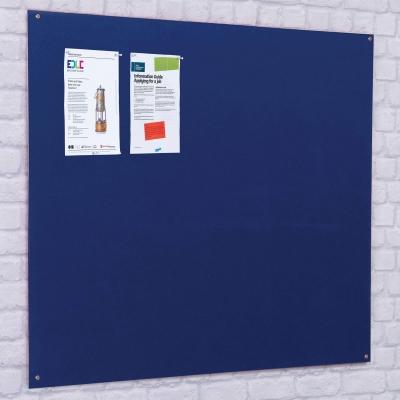 Unframed Noticeboard Fire Retardant Blue - Size: 900 X 600mm