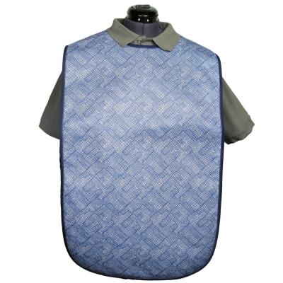 Adult Soaker Bib - Colour: Blue/striped