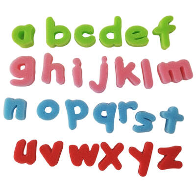 Foam Letter Shapes Lower Case 26 Pack