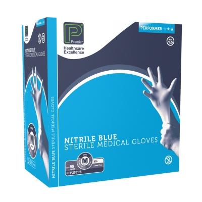 Sterile, Powder-Free Nitrile Gloves Medium 50prs