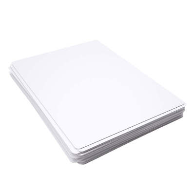 A4 Dry Wipe Boards Lightweight Plain 10 Pack