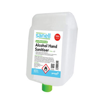 Sanell Alcohol Hand Gel 1000ml Cartridge 3 Pack