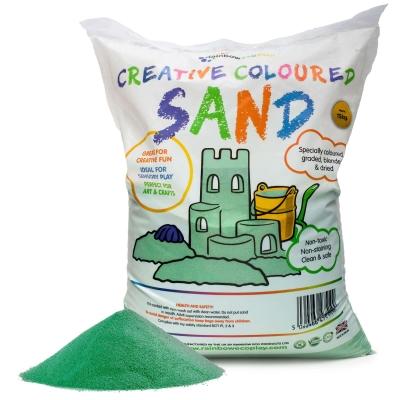 Coloured Play Sand 15kg - Colour: Green
