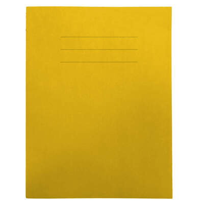 """Exercise Book 9x7"""" Lined 48 Page Box 50 - Colour: Yellow"""