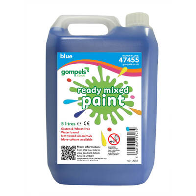 Ready Mixed Poster Paint 5ltr - Colour: Blue