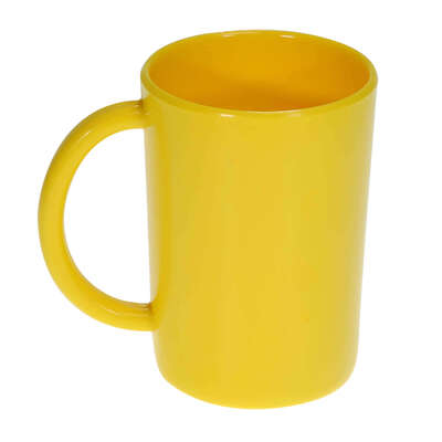 Gompels Super Tuff Handled Mug 10oz 6pk - Colour: Yellow
