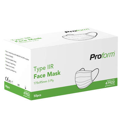 Type IIR Medical Face Mask 50 Pack