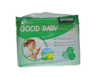 Gompels Baby Nappy Extra Large Size 6 16+kg 30