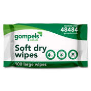 Gompels Large Dry Wipes 100 Pack