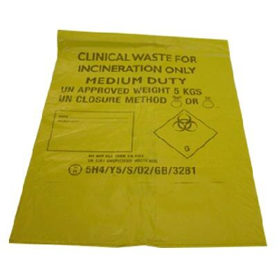 Soclean Clinical Waste Bags Yellow 4 x 50