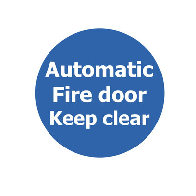 Fire Door Non Marking Adhesive Sign x 3 - Design: Automatic Keep Clear