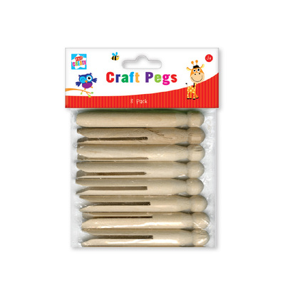 Wooden Craft Pegs 8 Pack
