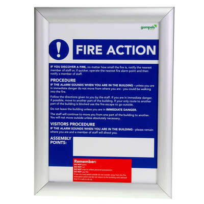 Fire Action/COSHH Golden Rules Sign A4