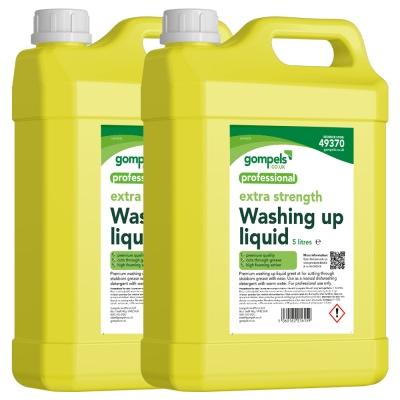 Gompels Premium Washing Up Liquid Lemon 2x5 Ltr