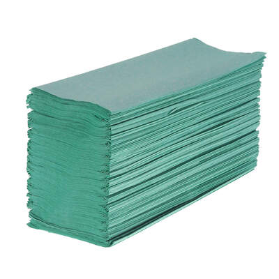 Z Fold Green Paper Towels 1ply 6000