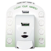 Clean Your Hands Deb Dispenser Back Board