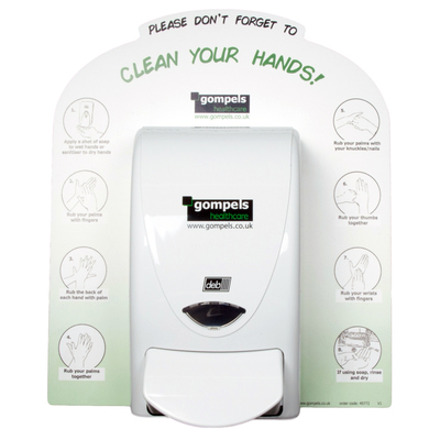 Clean Your Hands Deb Dispenser Back Board