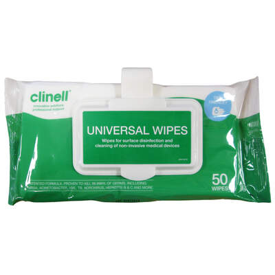 Clinell Universal Wipes 50 Pack