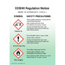 COSHH Regulation Notice A5