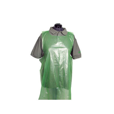 Disposable Premium Plastic Aprons - Rolls of 200 - Colour: Green