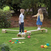 Wooden Outdoor Balance Trail 19 Pack
