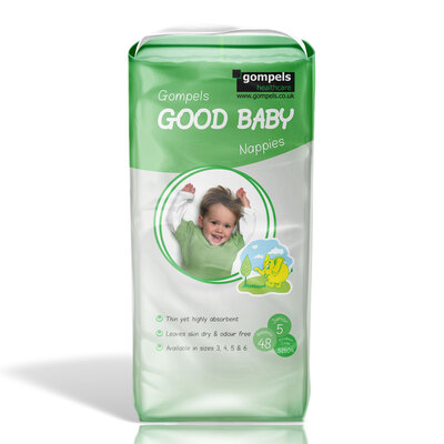 Gompels Baby Nappies Size 5 Junior 48 Pack