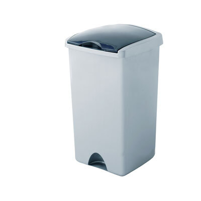 50 Ltr Lift Top Bin - Colour: Silver
