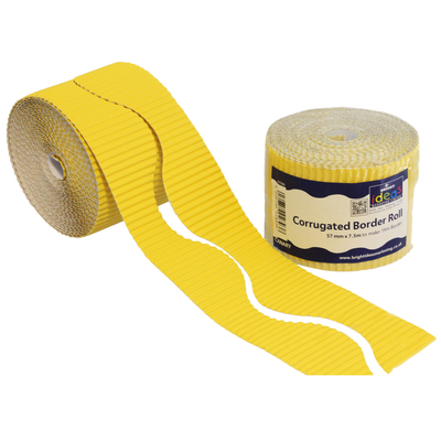 Border Roll 10cm x 15m - Colour: Yellow