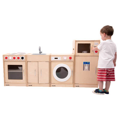 Wooden Play Kitchen 5 Piece