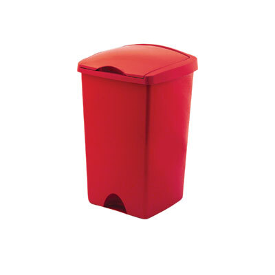 50 Ltr Lift Top Bin - Colour: Red