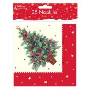 Traditional Christmas Napkins 2ply 25 Pk