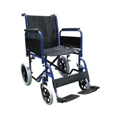 Transit Wheelchair Full Armrest Blue