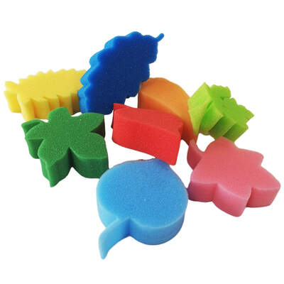 Foam Leaves Assorted Pack of 8