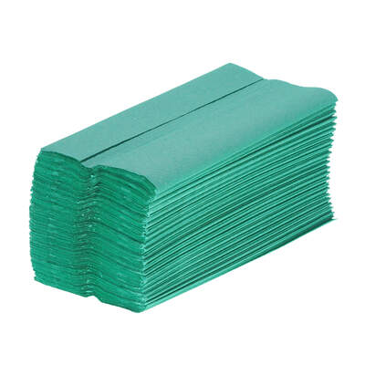 C Fold Paper Hand Towels Green 1ply 2640