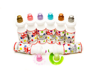 Chunky Paint Markers 75ml x 8 Metallic Colours