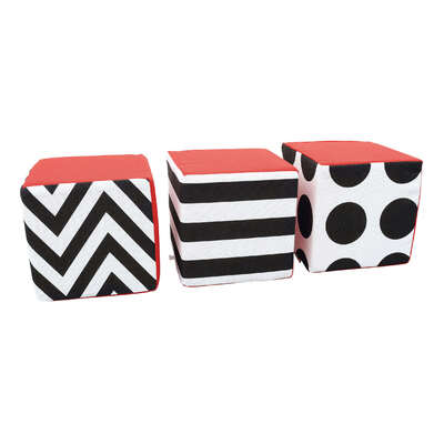 Contrast Cube Seats 3 Pack