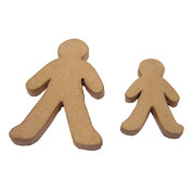 Paper Mache Gingerbread People Pack 10