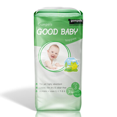 Gompels Baby Nappies Size 3 Midi 74 Pack