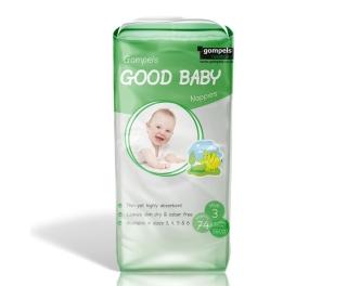 Gompels Baby Nappy Midi Size 3 4-9kg 74