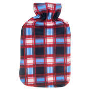 Hot Water Bottle Cover Red Tartan