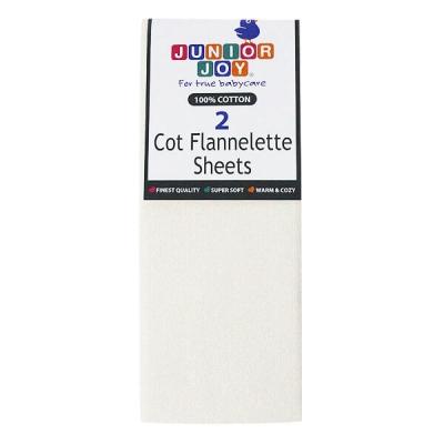 Cot Flannelette Sheets 100x150cm Cream 2 Pack