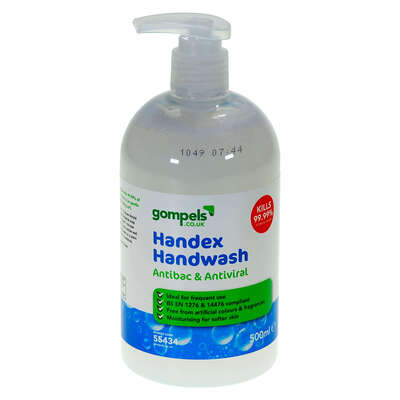 Handex Antibac and Antiviral Hand Wash 500ml 12 Pack