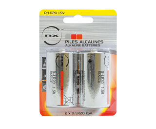 Size D Alkaline Battery 2pk