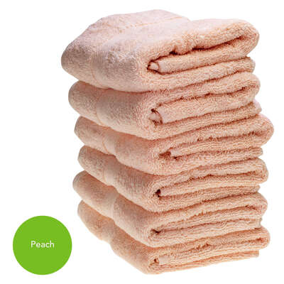 Hand Towel 50x90cm 500gm x 6 - Colour: Peach