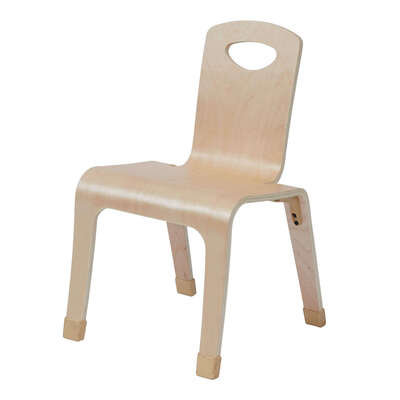 One Piece Bent Chair 4 Pack - Height: 310mm