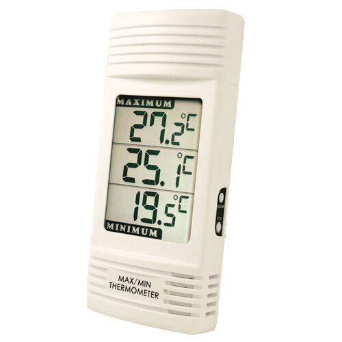 digital max min thermometer in care home equipment room water thermometers gompels. Black Bedroom Furniture Sets. Home Design Ideas