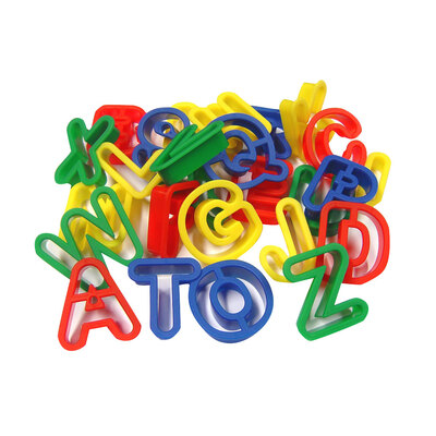 Plastic Dough Cutters Upper Case Alphabet Pack 26