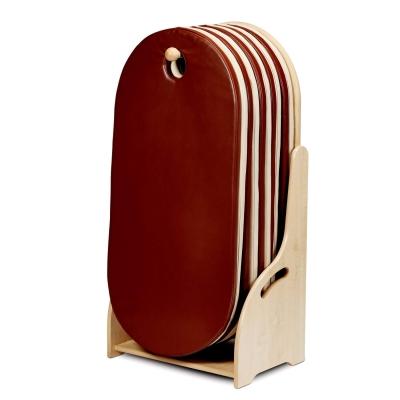 Floorstanding Sleep Mat Unit With 10 Sleep Mats - Colour: Brown
