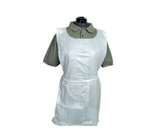 Disposable Polythene Aprons - Rolls of 200