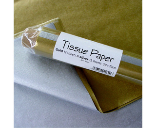 Gold and Silver Tissue 24 Sheets